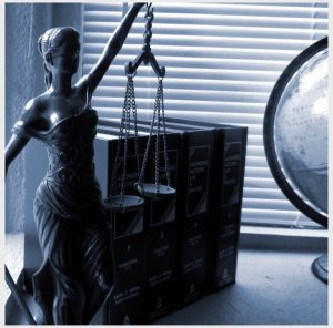 Litigation lawyers' Legal statue and law books