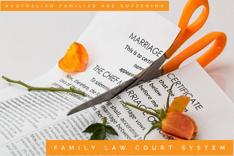 family law court system scissors cutting marriage certificate